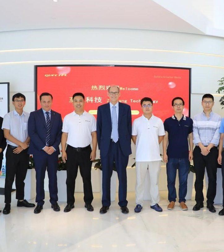 Circle Gas and Quectel team photo at Quectel's Headquarters